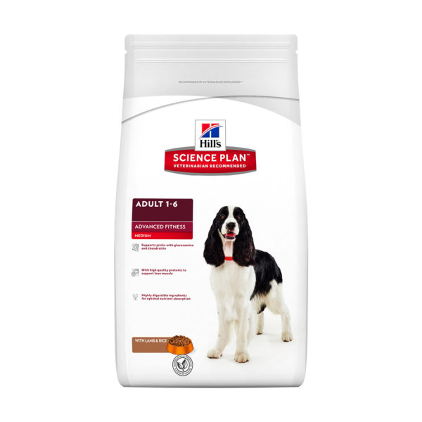 HILLS Science Plan Canine Advanced Fitness Medium Breed Lamb and Rice