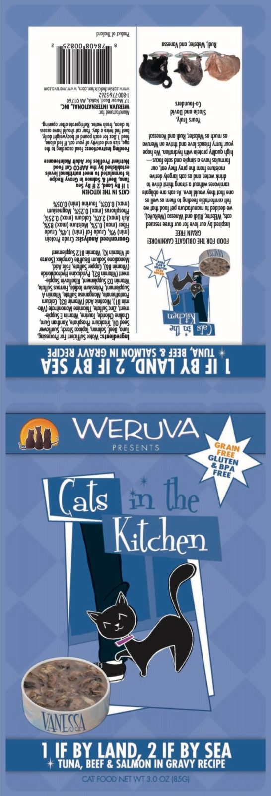 Weruva 1 If By Land, 2 If by sea for cats