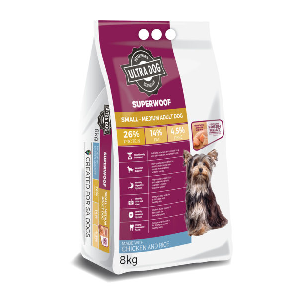 SUPERWOOF - 8KG SMALL-MED ADULT (CHIC_RICE)