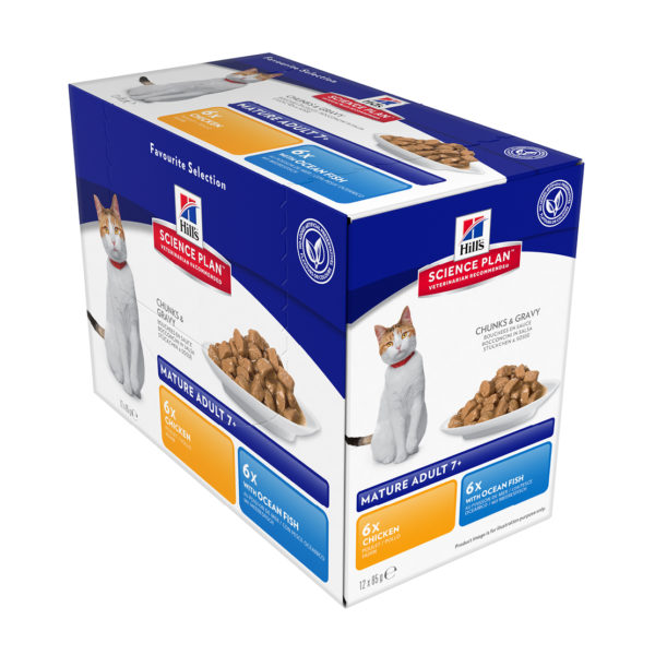 Hills Science Plan Active Longevity Chicken and Ocean Fish Box 12 x 85g pouches