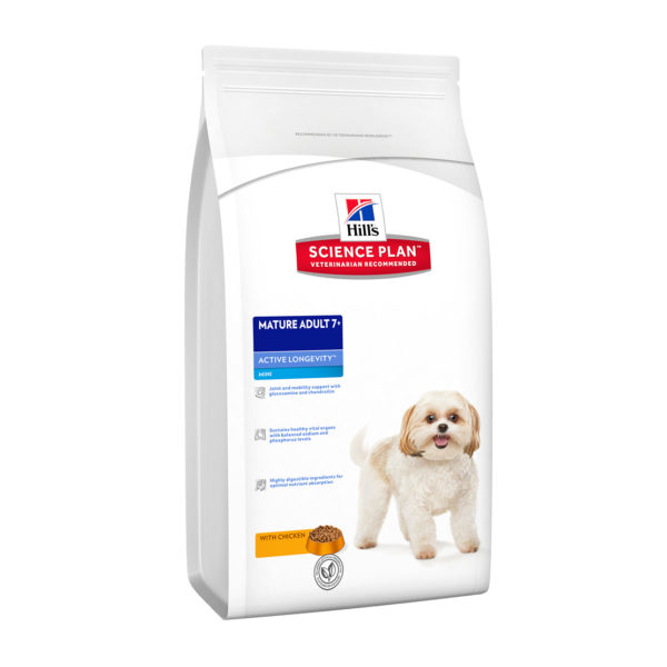 HILLS Science Plan Canine Active Longevity Mini Breed Chicken DRY